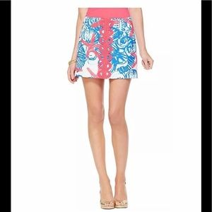 Lilly Pulitzer She She Shells Tate Skirt Sz 0